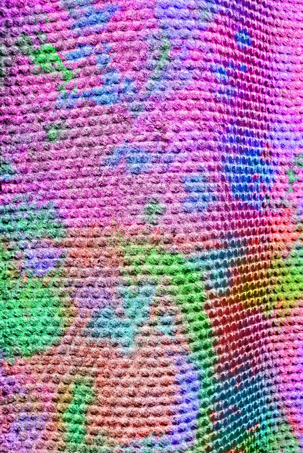 Grafik der gemischten Medien, bunte künstlerische gemalte Schicht der Zusammenfassung im Rosa, grüne Farbpalette auf Schmutzflies stockfoto