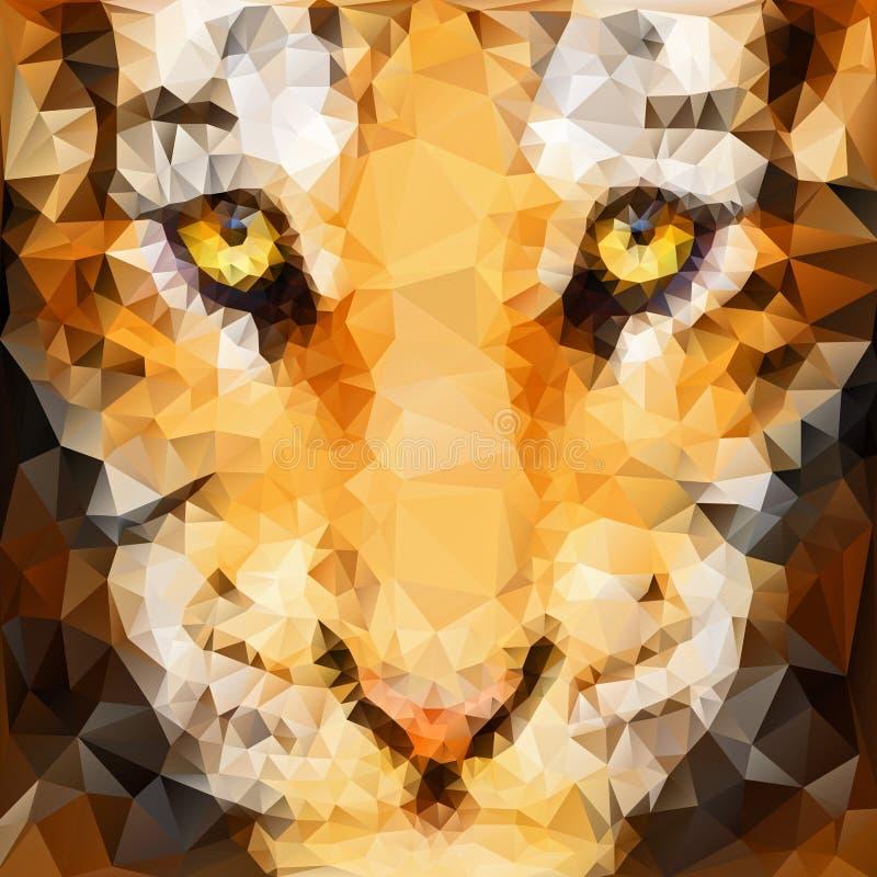 Grafik des Tigerjungen lizenzfreie abbildung