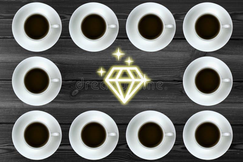 Grafik mit Kaffee stockbilder