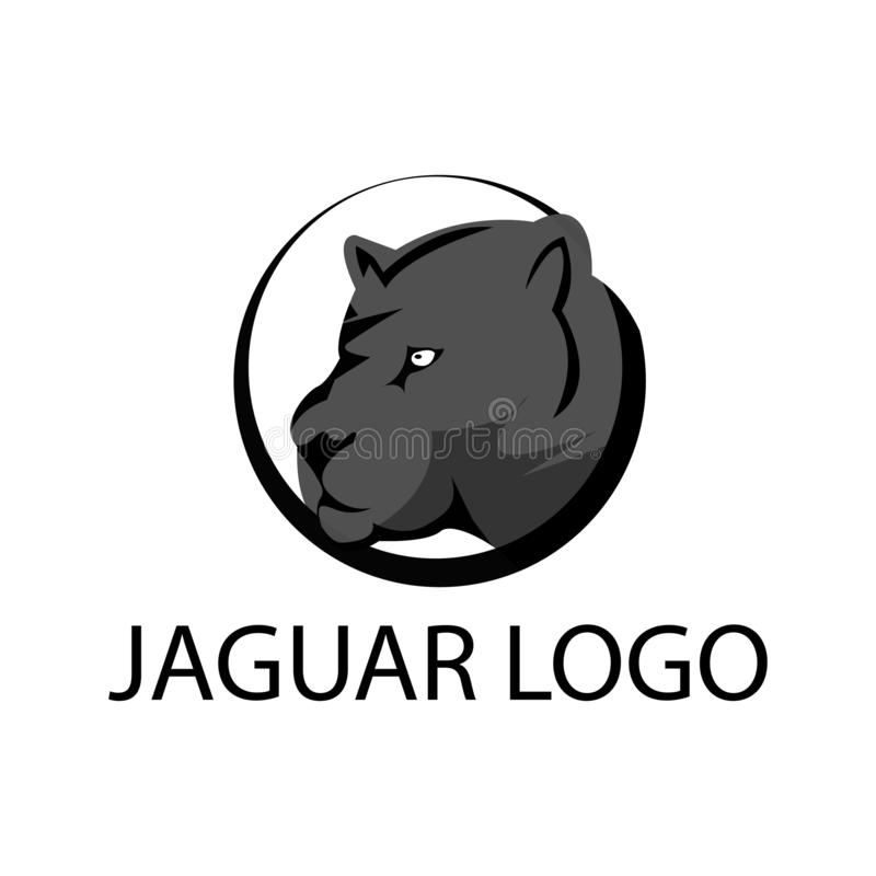 Jaguar logo stock, jaguar silhouette, flat design stock illustration