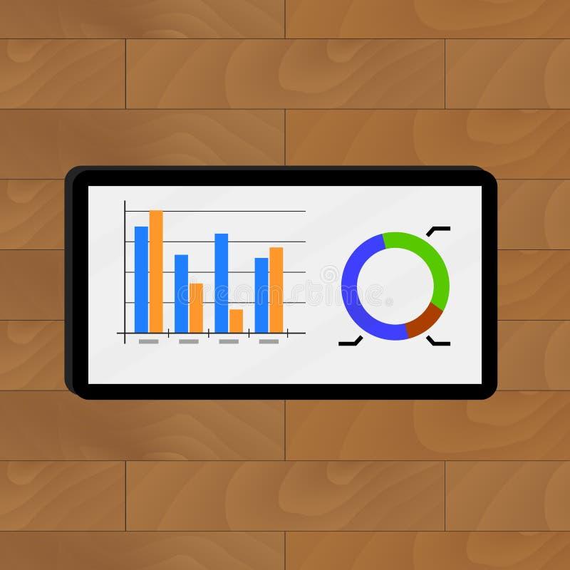 Grafik und Diagramm stock abbildung