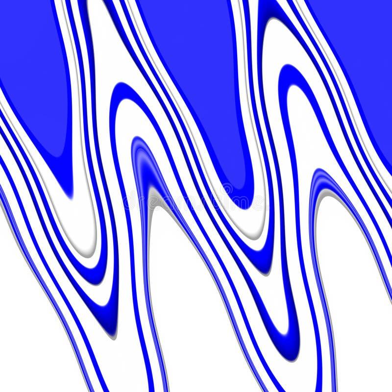 Grafika, błękitne białe linie, abstrakt kształtowali tło royalty ilustracja