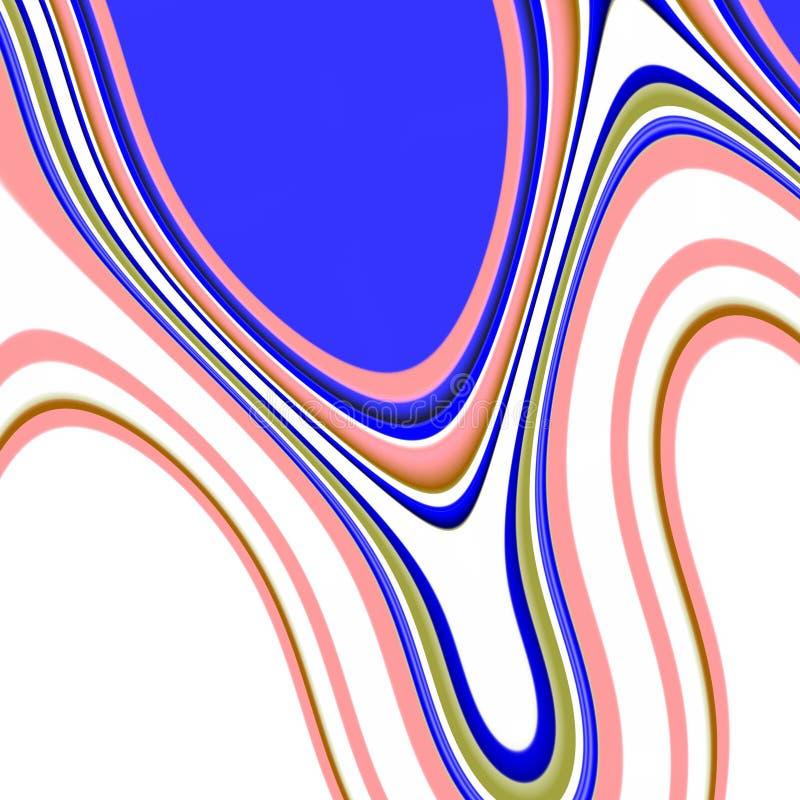 Grafika, błękitne biel menchie wykładają, abstrakt kształtujący tło ilustracja wektor