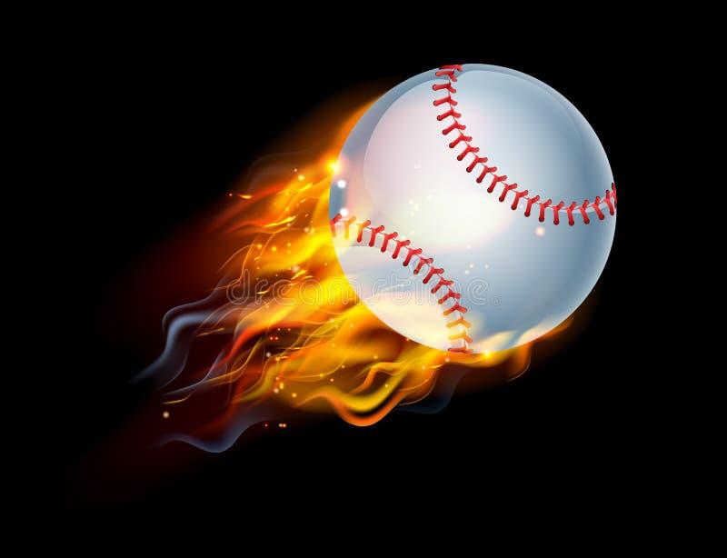 grafika balowego baseballa komputerowe projekta ogienia grafika ilustracji