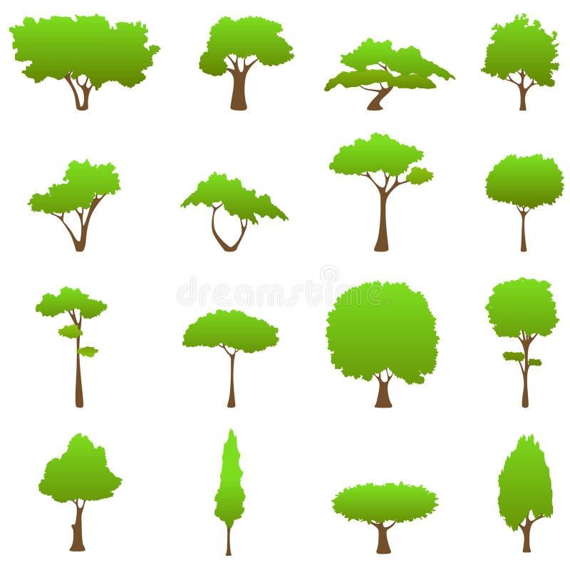 grafika drzewa wektor ilustracja wektor