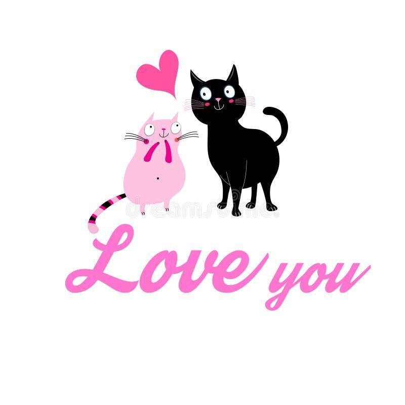 Download Grafika enamored koty ilustracja wektor. Ilustracja złożonej z zwierzęta - 106909159