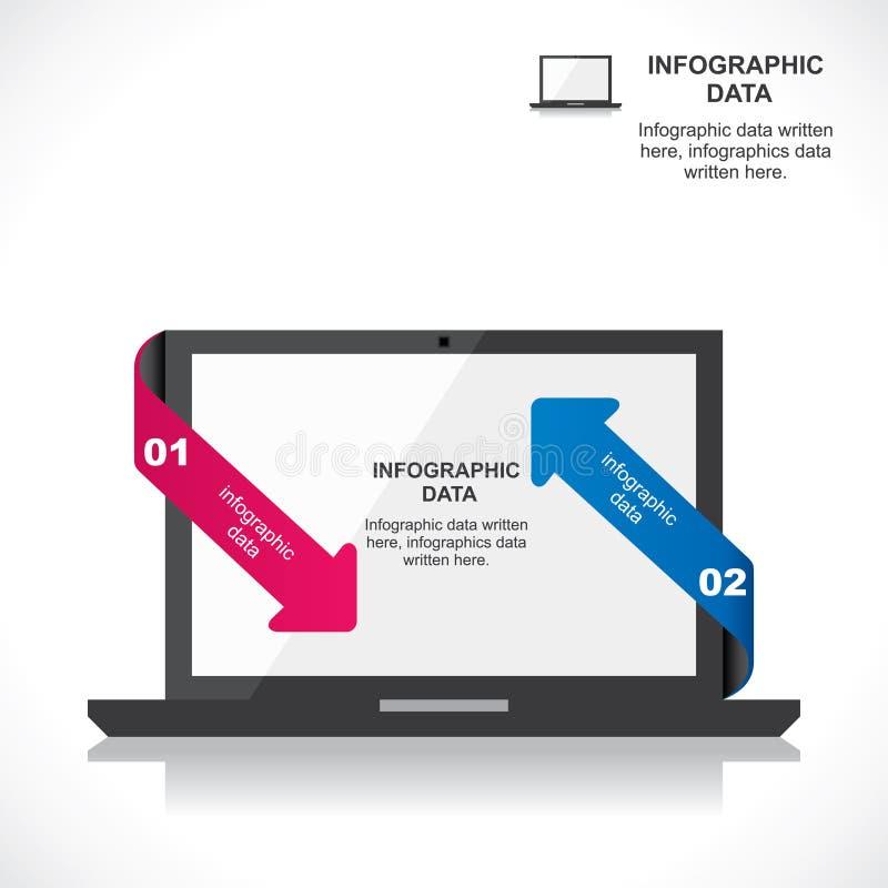 Grafika laptop ilustracji