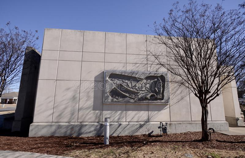 Grafika na budynku delt sztuk edukaci centrum tyły, Zachodni Memphis, Arkansas obraz stock