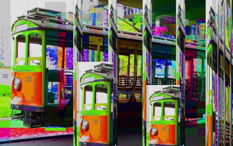 Grafika projekta sztuki Abstrakcjonistyczny kolorowy obraz Obrazuje nową sztukę zdjęcia stock