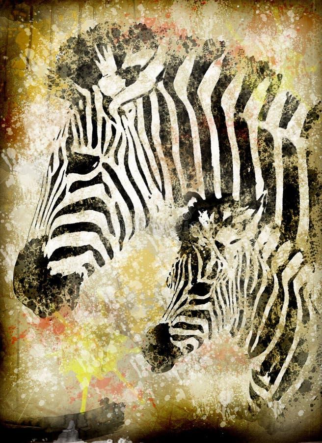 Grunge zebra