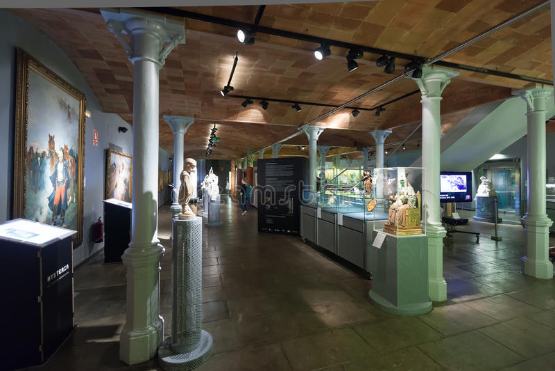 Grafika w wnętrzu Museo De Modernismo katalończyk w Barcelona fotografia stock