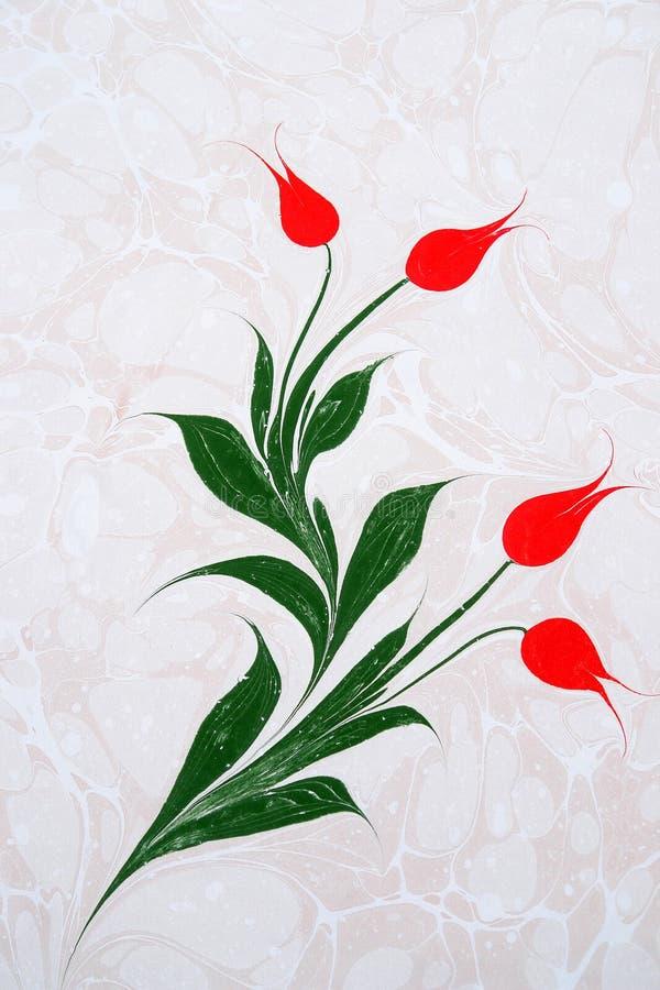 grafika wykładać marmurem papierowy tradycyjny turkish fotografia stock