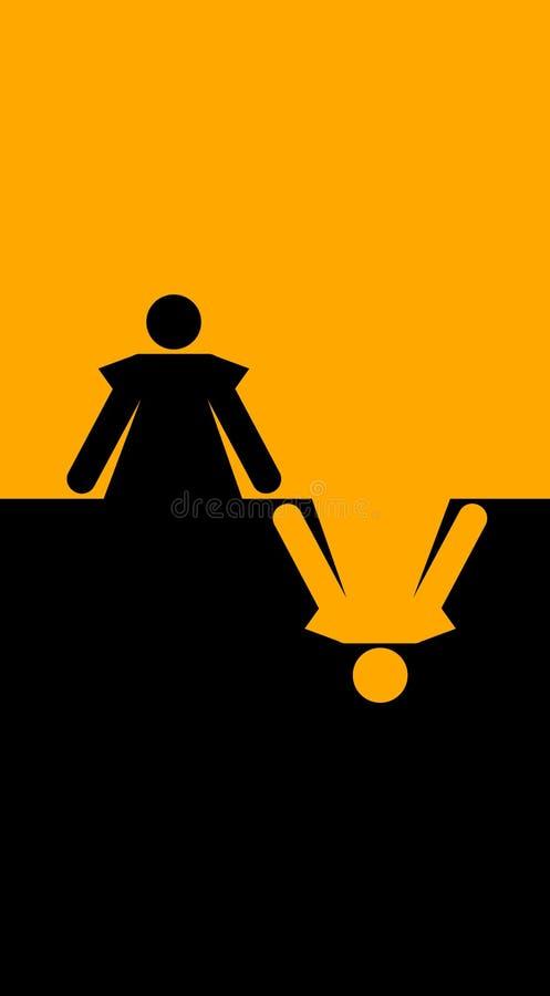 grafika zanurzająca kobieta ilustracji