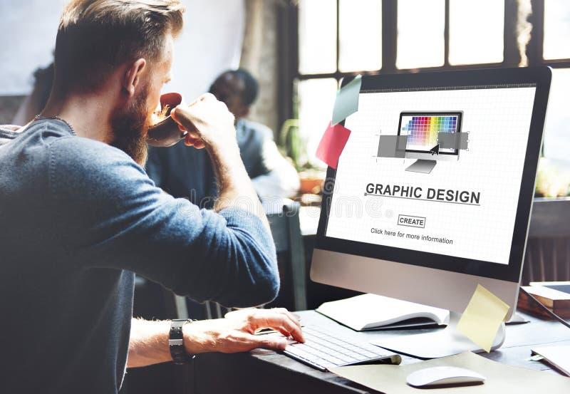 Grafikdesign-Illustration Art Work Concept stockbilder