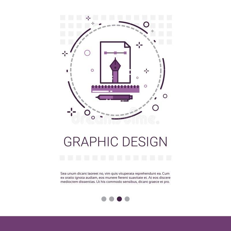 Grafikdesign-Illustrations-Entwicklungs-Computer-Programmierungstechnologie-Fahne mit Kopien-Raum vektor abbildung