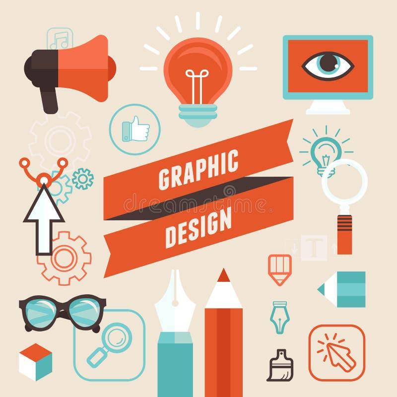 Grafikdesigner Vetor lizenzfreie abbildung