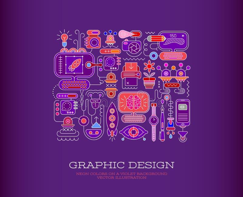Grafikdesignvektorillustration vektor abbildung