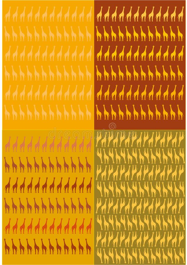Grafikdiagramm der Giraffen lizenzfreie stockfotografie