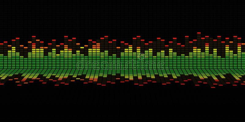Grafiken des Musikentzerrers lizenzfreie stockbilder