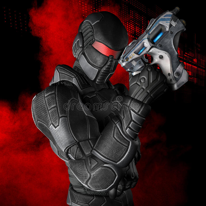 Grafiken des Superhelden 3D vektor abbildung