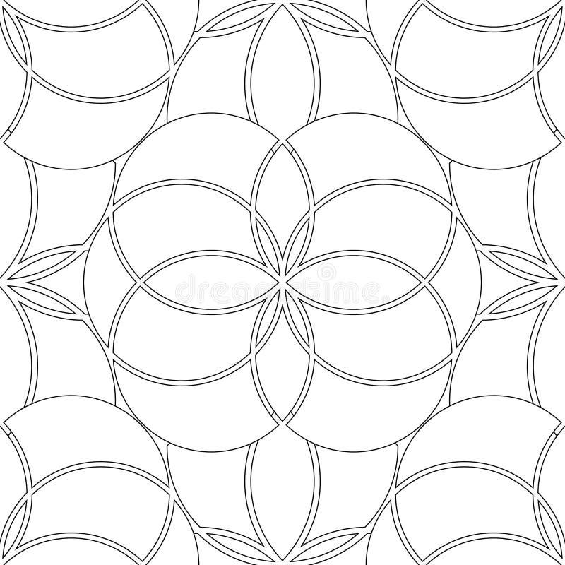 Grafiki geometrii święty wzór ilustracji