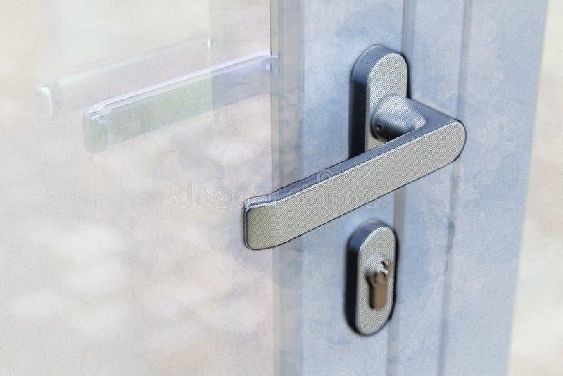 Grafiki ilustracja Zewnętrzna drzwiowa rękojeść i ochrona blokujemy zdjęcie stock