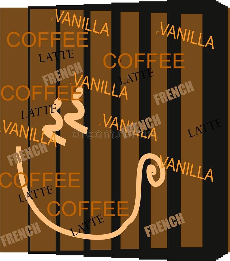 grafiki inspirująca kawowa royalty ilustracja