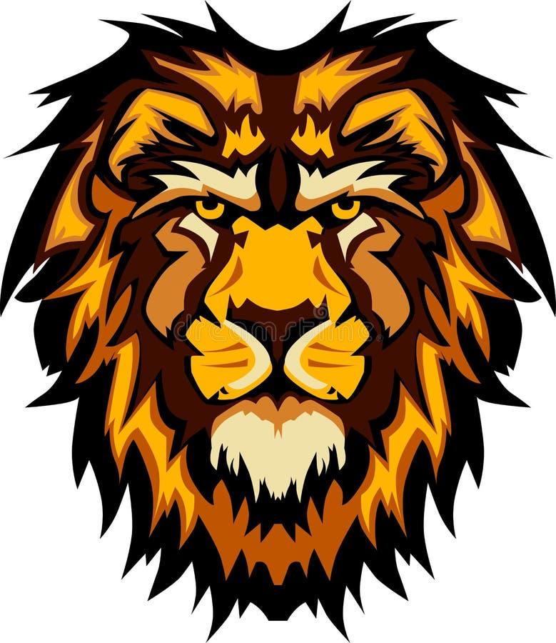 grafiki kierowniczy wizerunku lwa maskotki wektor