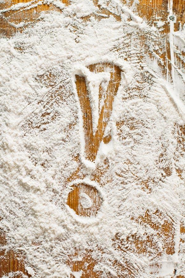 grafiki mąki jedzenia handprints zdjęcia stock