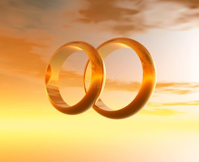 grafiki pierścienie za 3 d royalty ilustracja