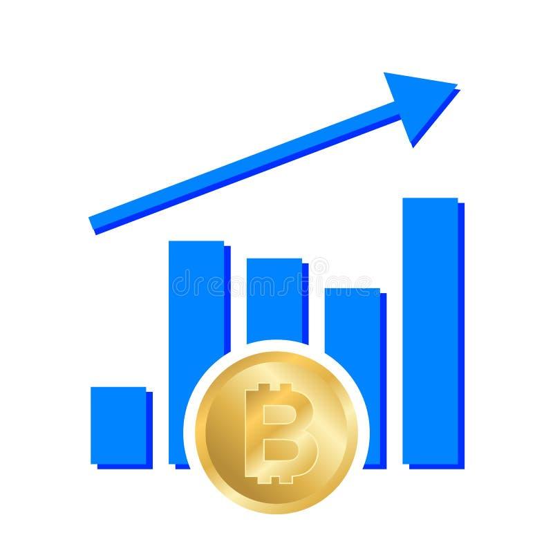 Grafiki przyrostowy bitcoin royalty ilustracja