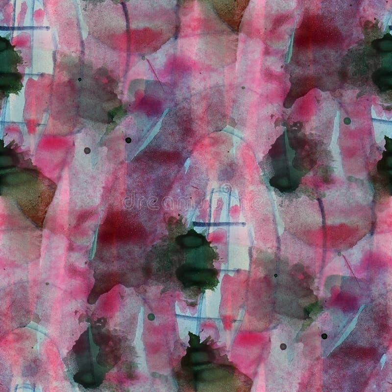 Grafikkünstler rot, dunkelblaue, schwarze Palette lizenzfreie abbildung
