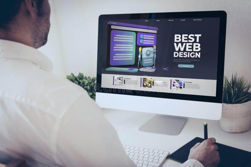 Grafiktabletts bester Web-Design lizenzfreie stockbilder