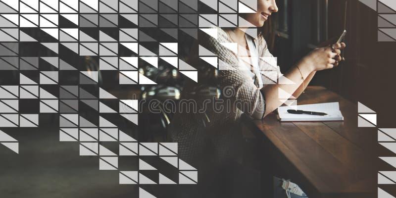 Grafisch Art Abstract Design Artistic Illustration-Concept royalty-vrije stock foto