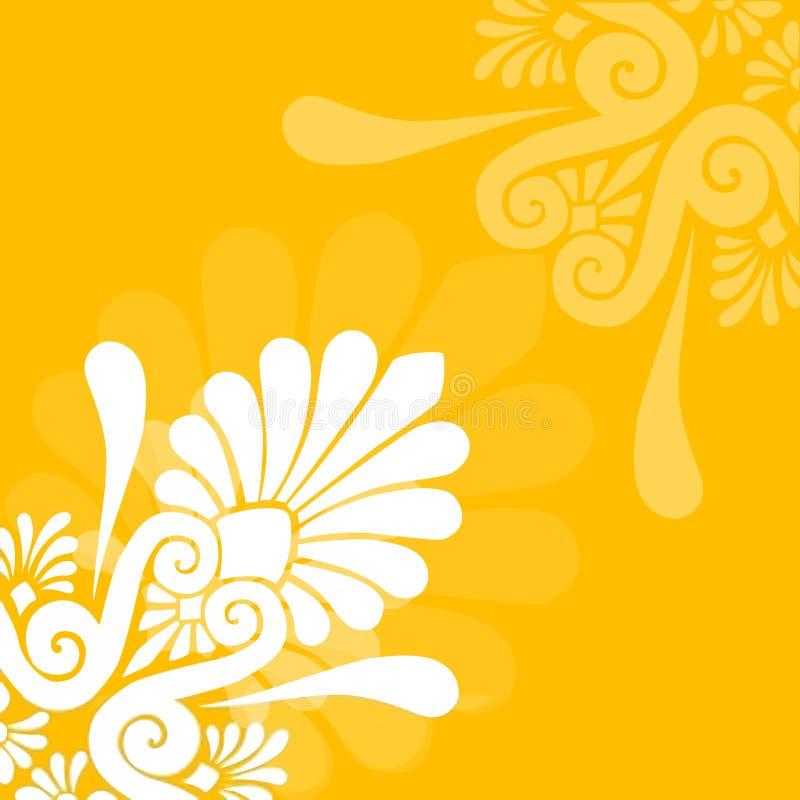 Grafisch BloemenOntwerp stock afbeelding