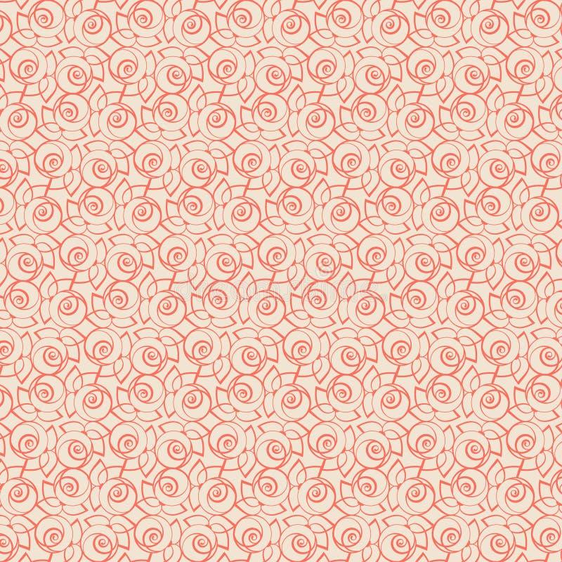 Grafisch Blumenmuster für die Feiertage lizenzfreie abbildung