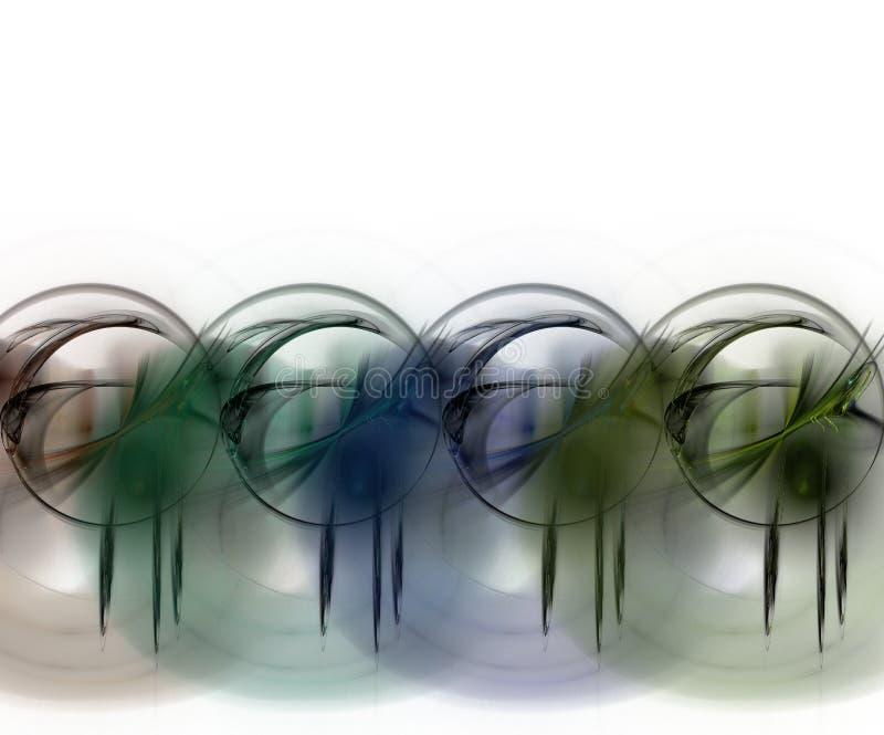 Grafisch - Cirkels Grunge royalty-vrije illustratie