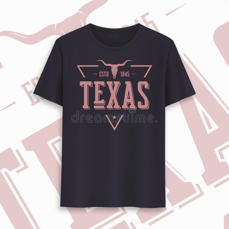 Grafisch de t-shirtontwerp van de staat van Texas, typografie, druk Vector illustratie stock illustratie