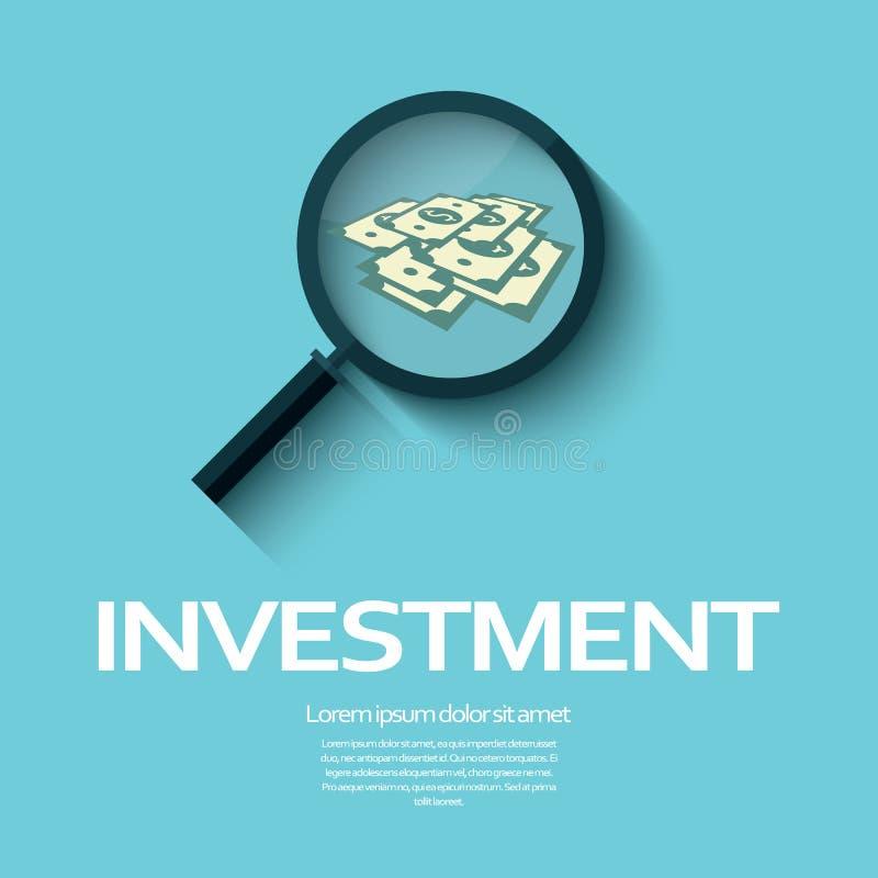 Grafisch het ontwerpconcept van de investeringsanalyse met royalty-vrije illustratie