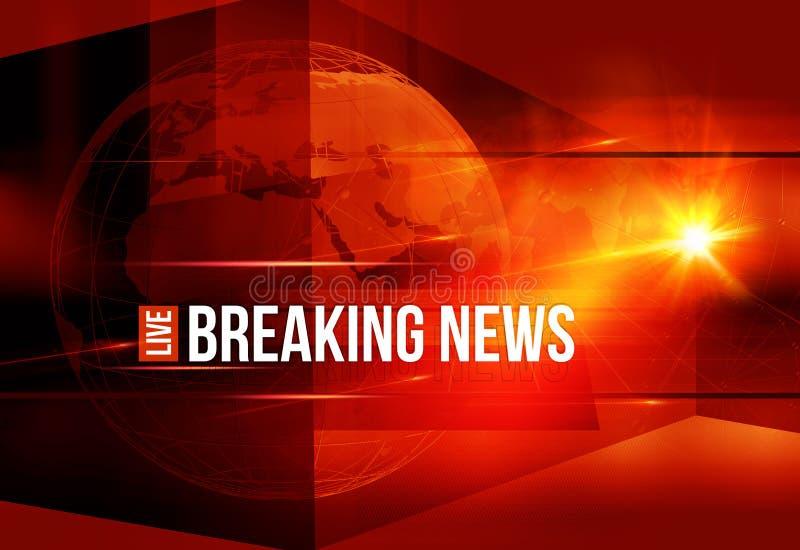 Grafisch Kleurrijk Live Breaking News Background royalty-vrije illustratie