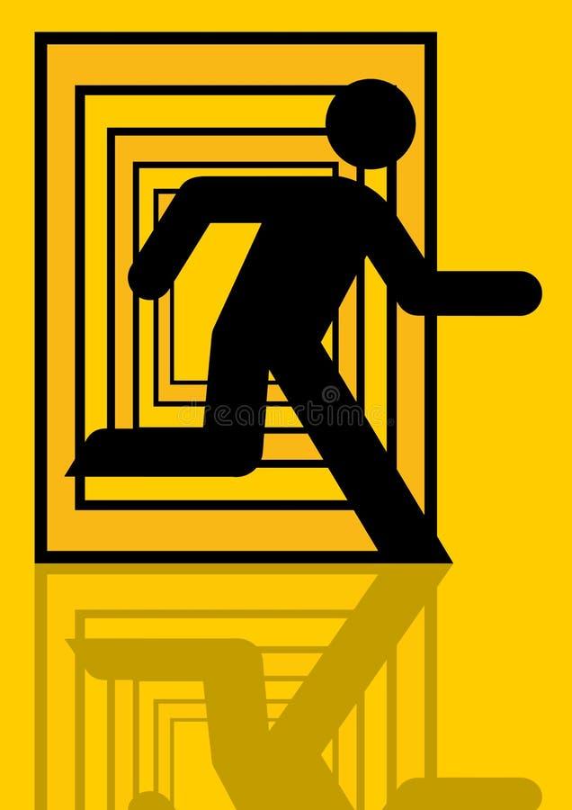 Grafisch lopen van de mens stock illustratie