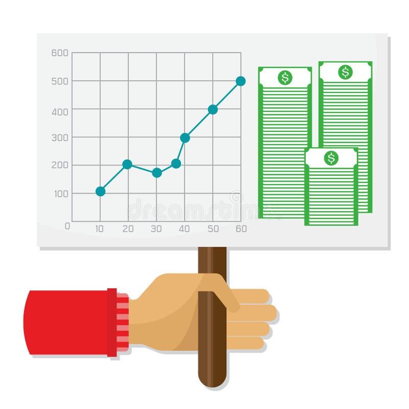 Grafisch ontwerp, personeel, bedrijfsconcept De inkomens van de groepswerkinvestering royalty-vrije illustratie