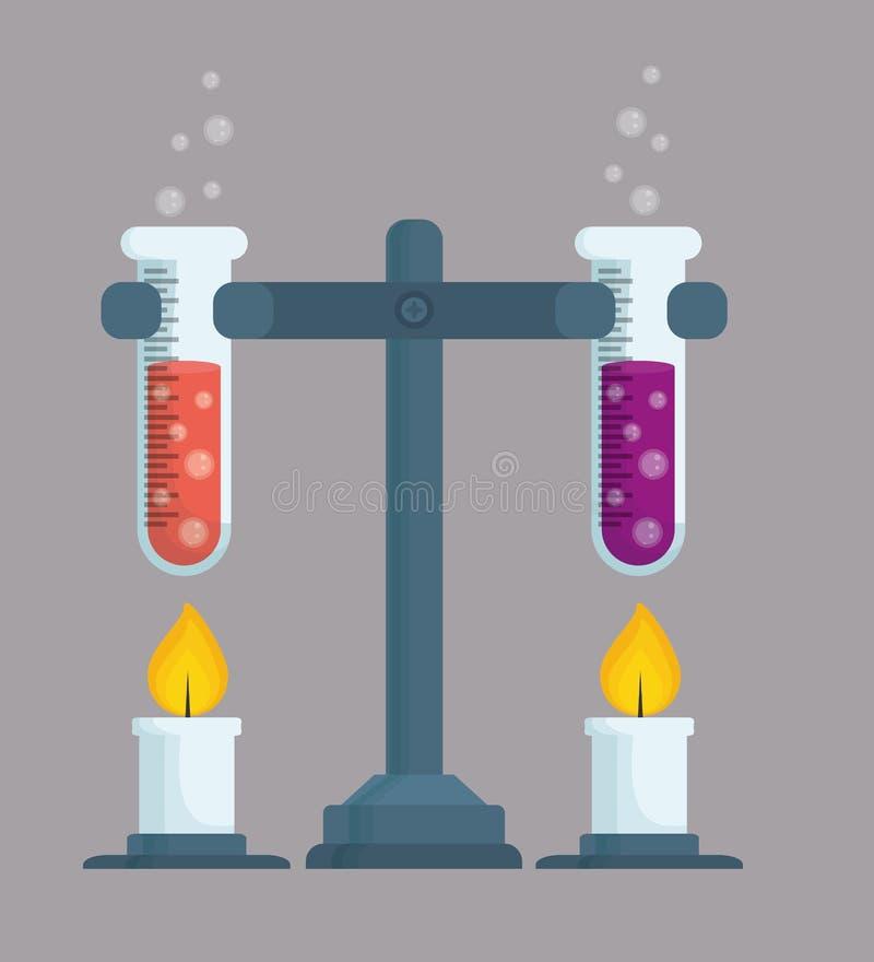Grafisch ontwerp van Chemisch Laboratorium, vectorillustratie stock illustratie