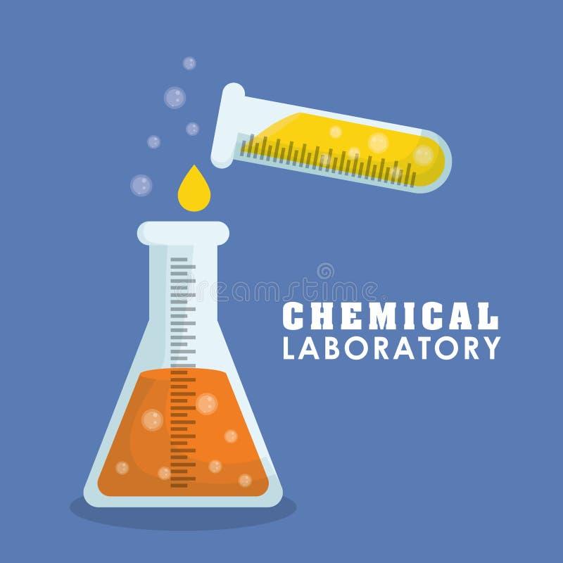 Grafisch ontwerp van Chemisch Laboratorium, vectorillustratie vector illustratie