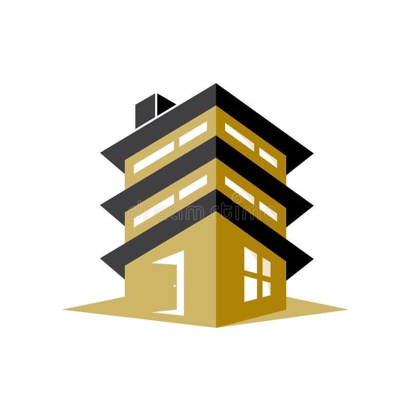 Grafisch ontwerp voor flatgebouw voor uw bedrijfsidentiteit vector illustratie