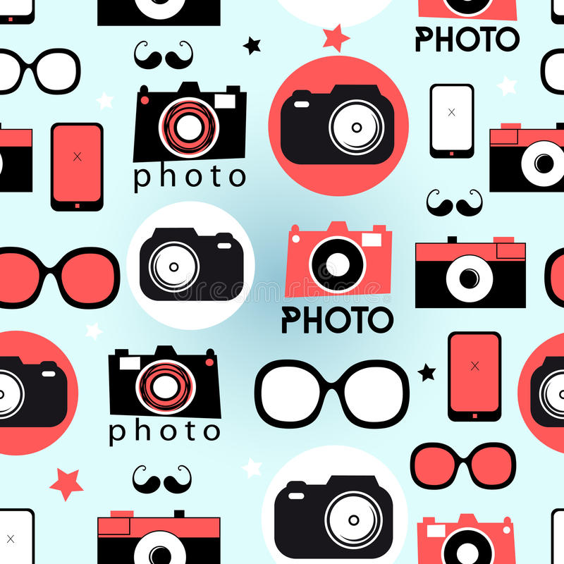 Grafisch patroon van camera's royalty-vrije illustratie