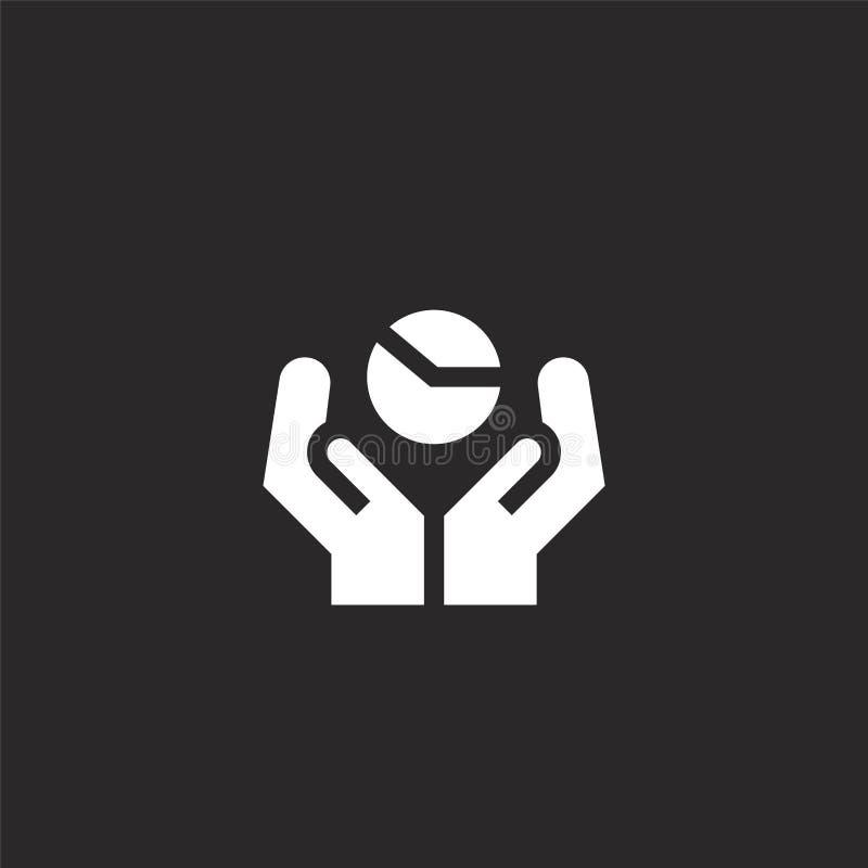 Grafisch pictogram Gevuld grafisch pictogram voor websiteontwerp en mobiel, app ontwikkeling grafisch pictogram van gevulde behee royalty-vrije illustratie