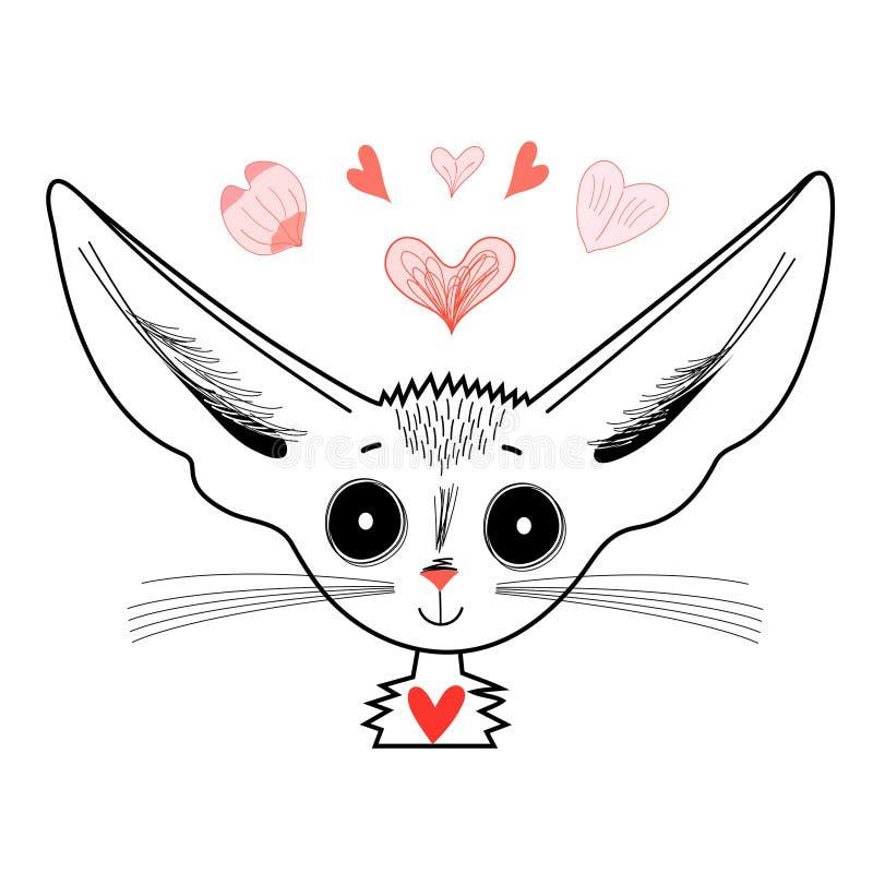 Grafisch portret van vos vector illustratie