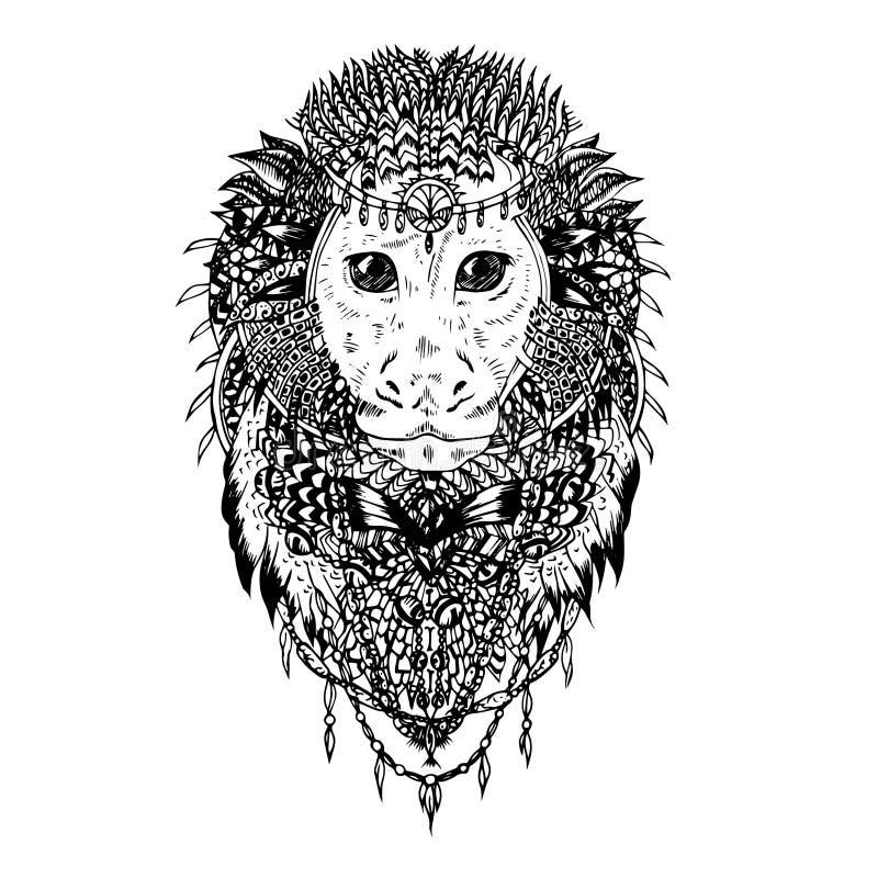 Grafisch vectoraap abstract ontwerp vector illustratie