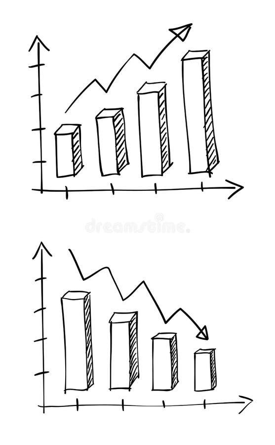 Grafisch voor bedrijfskrabbel royalty-vrije illustratie